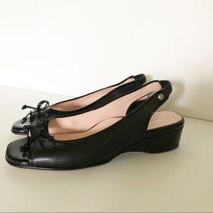 Taryn Rose Karol Slingback Flats/Black/Siz…